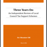 Three Years On_An independent review of LCTS schemes by Eric Ollerenshaw_front cover