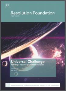 Resolution Foundation report_Universal Challenge-Making a success of Universal Credit