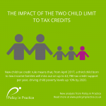 Graphic depicting the timapct of the two child limit to tax credits