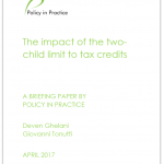 Two Child Tax Credit - report front page