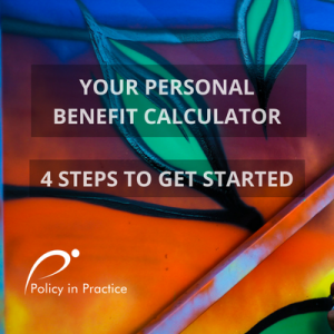 Image depicting Policy in Practice's free personal Benefit Calculator web page