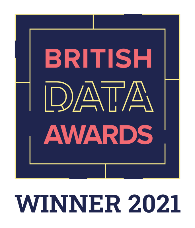 British Data Awards winner badge (full colour)