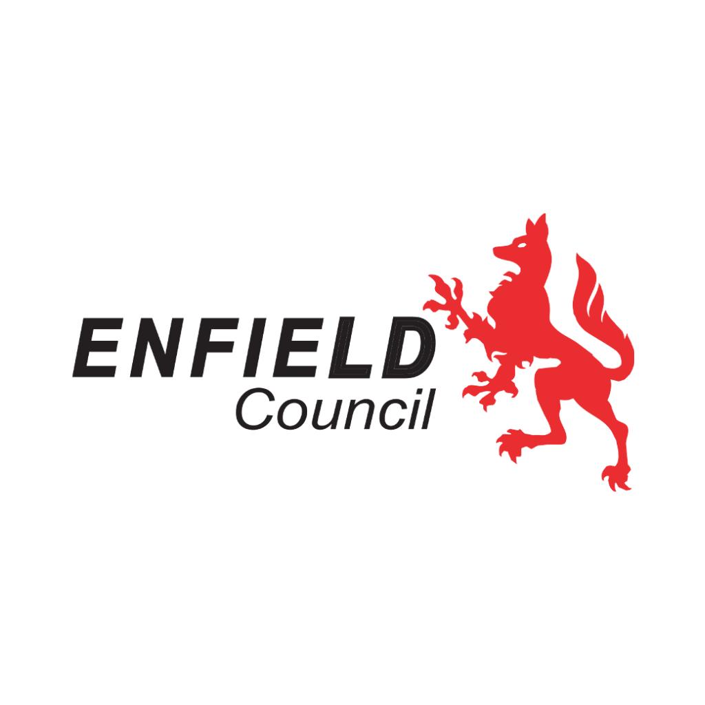 Enfiled logo (colour on white)