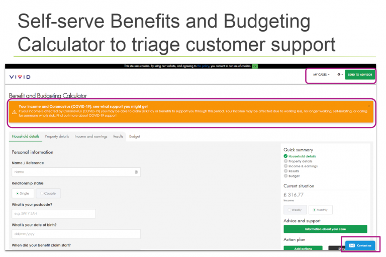 Use a benefits calculator with eligibility built in to support vulnerable people through the Coronavirus (COVID-19) crisis
