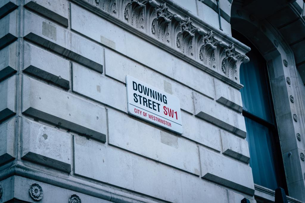 Photo of Downing Street road sign to illustrate a blog post on Budget 2021